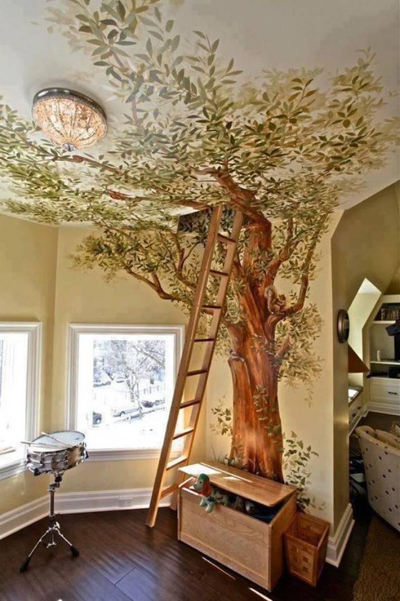 Дизайн дерево на стене своими руками